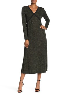 Max Studio Long Sleeve Knit Midi Dress