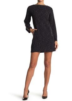 Max Studio Long Sleeve Knit Shift Dress