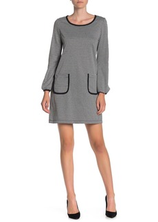 Max Studio Long Sleeve Patch Pocket Dress