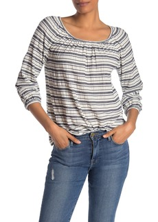 Max Studio 3/4 Sleeve Striped Knit Top