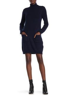 Max Studio Turtleneck Long Sleeve Knit Dress