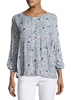 Max Studio 3/4-Sleeve Floral-Print Blouse