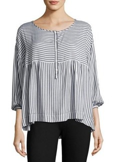 Max Studio 3/4-Sleeve Striped Blouse