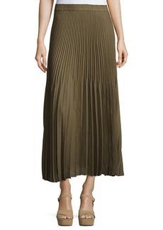 Max Studio Accordion-Pleated Maxi Skirt