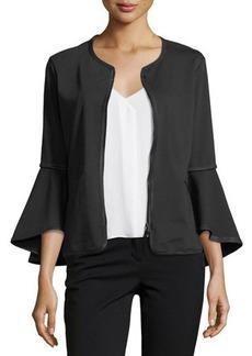 Max Studio Bell-Sleeve Ponté Jacket