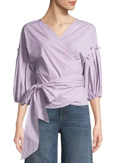 Max Studio Bubble-Sleeve Tie-Waist Blouse