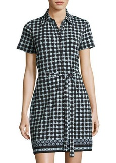 Max Studio Circle-Print Jersey Shirtdress
