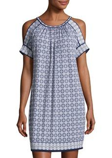 Max Studio Cold-Shoulder Matte-Jersey Dress