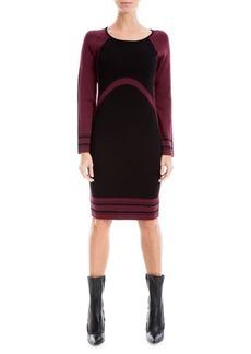 Max Studio Colorblock Sweater Dress