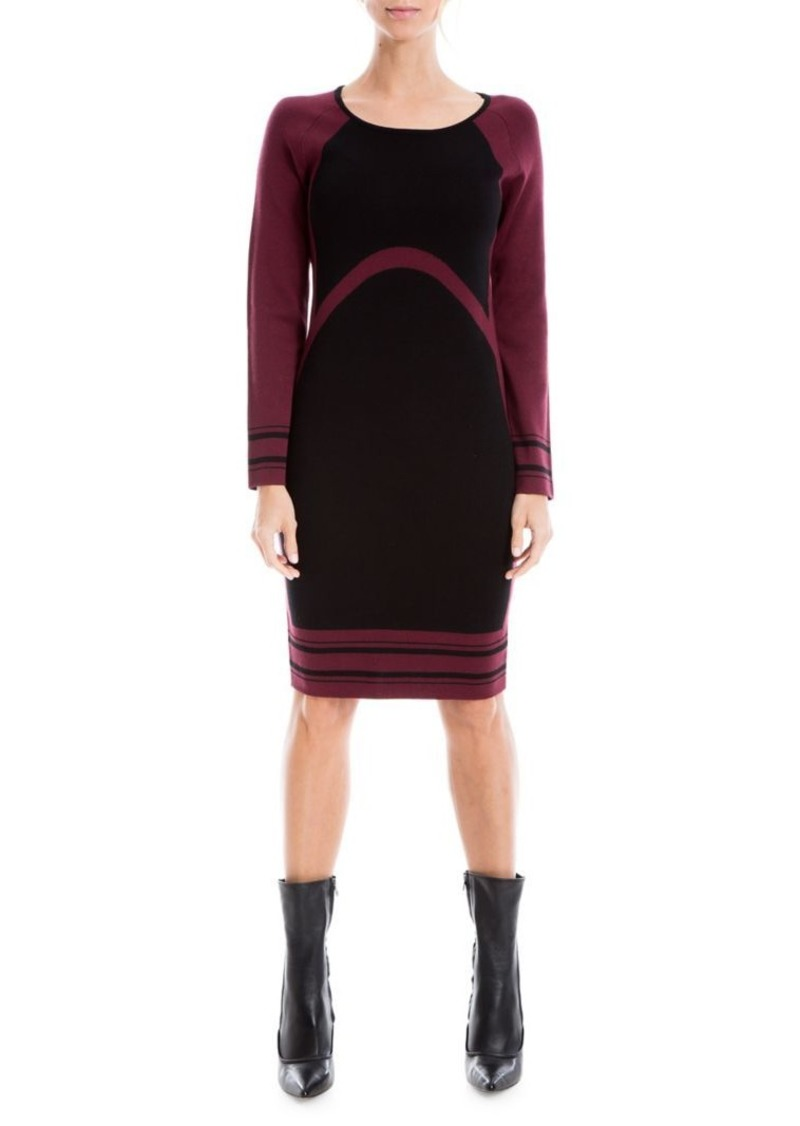Max Studio Colorblock Sweater Dress