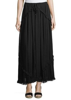 Max Studio Crinkled Chiffon Maxi Skirt