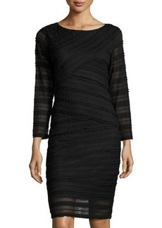 Max Studio Crisscross-Lace Bracelet-Sleeve Dress