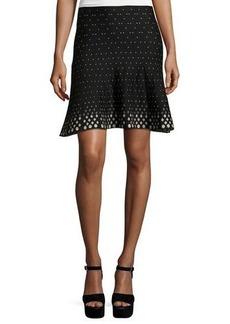 Max Studio Diamond-Print A-Line Knit Skirt