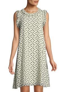 Max Studio Dot-Print Georgette Dress