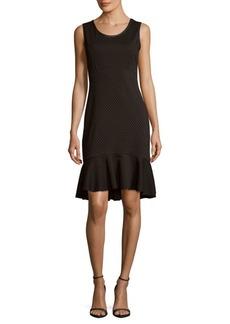 Max Studio Dotted Sleeveless Dress