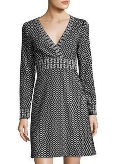 Max Studio Double-Knit Jacquard Dress