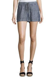Max Studio Drawstring-Waist Linen Shorts