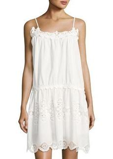 Max Studio Embroidered Cotton Tunic Dress