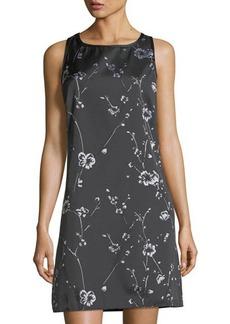 Max Studio Embroidered Shift Dress