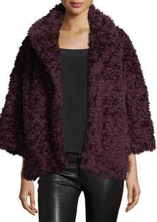 Max Studio Faux-Fur 3/4-Sleeve Jacket