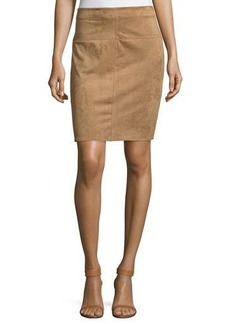 Max Studio Faux-Suede Pencil Skirt