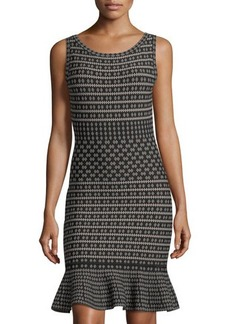 Max Studio Flare-Hem Sleeveless Sweater Dress