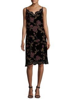 Max Studio Floral Knee-Length Dress