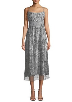 Max Studio Floral Lace Sleeveless Maxi Dress