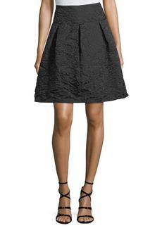 Max Studio Floral Matelasse Flare Miniskirt