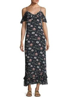 Max Studio Floral-Print Cold-Shoulder Dress