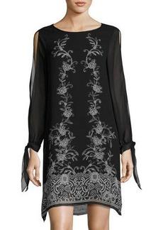 Max Studio Floral-Print Crepe Georgette Dress