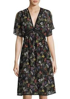 Max Studio Floral-Print Georgette Dress