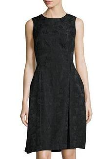 Max Studio Floral-Print Jacquard Dress