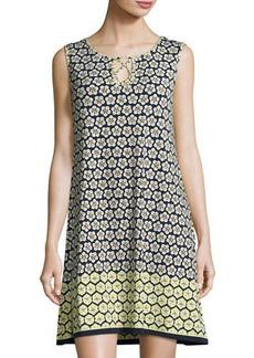 Max Studio Floral-Print Matte-Jersey Dress
