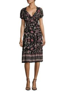 Max Studio Floral-Print Midi Dress