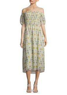Max Studio Floral Print Shift Dress