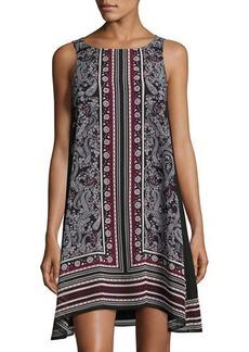 Max Studio Floral-Print Sleeveless Chiffon Dress