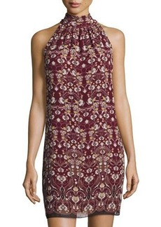 Max Studio Floral-Printed Sleeveless Shift Dress