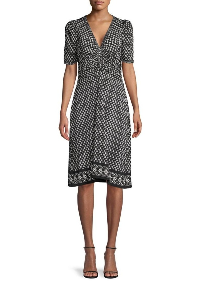 Max Studio Floral Printed Wrap Dress