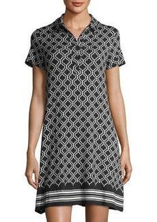 Max Studio Geometric-Print Jersey Shift Dress
