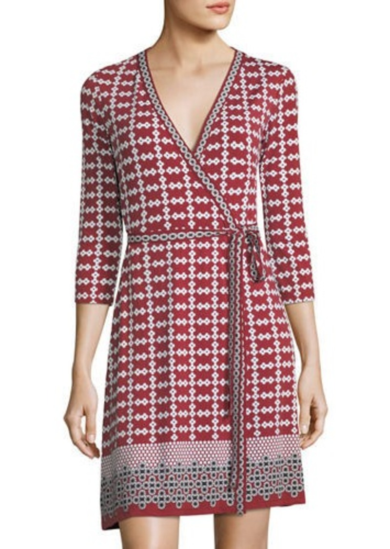 Max Studio Geometric-Print Jersey Wrap Dress