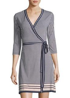 Max Studio Geometric-Print Wrap Dress