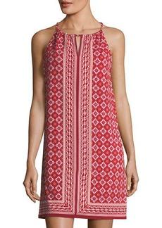 Max Studio Halter-Neck Printed Dress