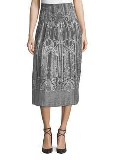 Max Studio High-Waisted Jacquard Skirt