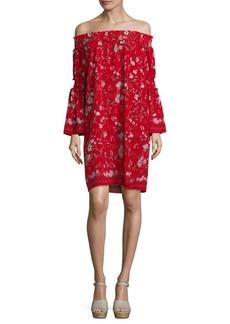 Max Studio Hollyhock Flower Printed Dress
