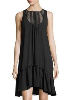 Max Studio Lace-Yoke Shift Dress