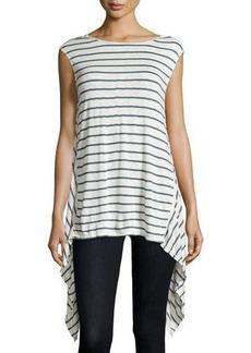 Max Studio Linen-Blend Striped Knit Tunic