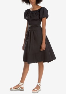 Max Studio London Belted Fit & Flare Dress, Created for Macy's