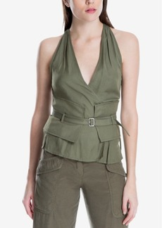 Max Studio London Belted Surplice Top, Created for Macy's