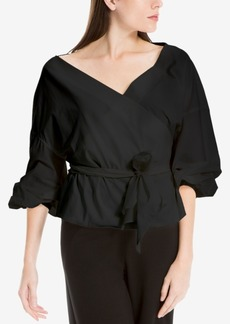 Max Studio London Belted Wrap Top, Created for Macy's